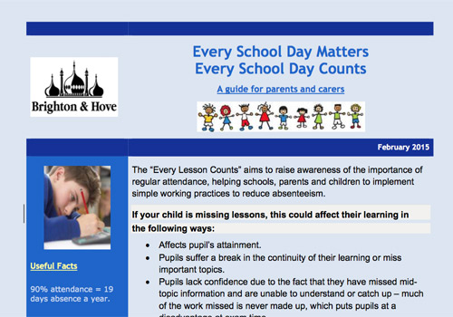 Every School Day Matters leaflet