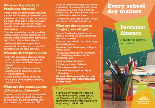 Persistent absence leaflet